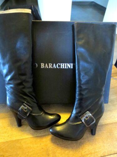 38 Noir Val Barachini Mid 9cm Talon 36 2cm 199e Veau Bottes Neuve 35 Point Patin TATzx6w