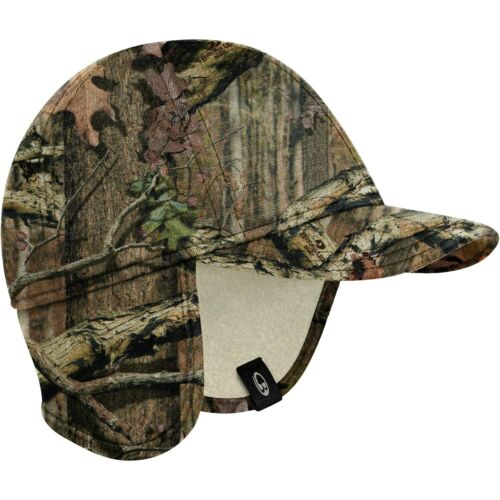 New $75 Icebreaker Explore Mossy Oak Camo Hunting Hat Cap Ear Flaps Merino Wool