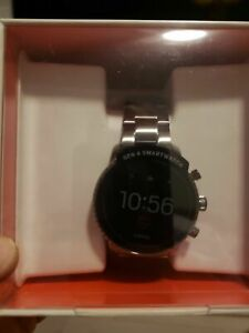 Fossil Men's Gen 4 Explorist HR Smoke Gray Touchscreen Smartwatch FTW4012