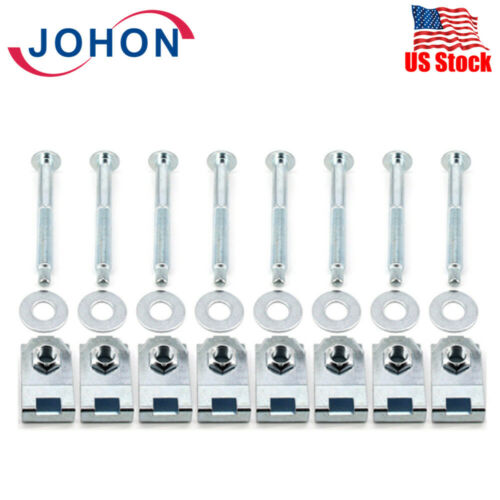 Truck Bed Mounting Hardware Kit Set of 8 Bolts Washers Captured Nuts for Ford