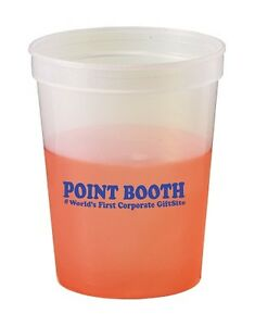 250 color changing stadium cups customized w your logo message ebay