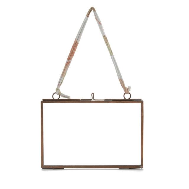 "Nkuku Kiko Glass Frame Copper - Antique Copper - Landscape 4 x 6"""