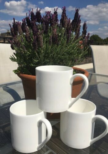 1 Pint Fine Bone China Tea/Coffee Mug x 3: