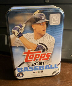 2021 Topps Series 1 One EMPTY Tin Aaron Judge - Yankees - Storage / Collectible