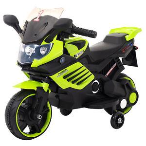 Kinder-Elektrofahrzeug-Elektro-Akku-Bike-Motorrad-mit-Stuetzraeder-LQ158-Gruen
