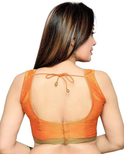 Ready-made Choli Weaving Saree Indian Wedding Party Wear Women Blouse Crop-top