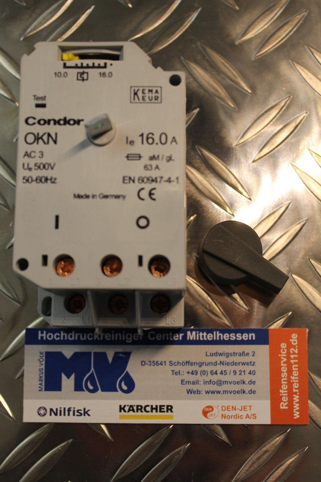 NEU Condor Motorschutzschalter OKN-160 AA 10-16 A für KÄRCHER + Frank
