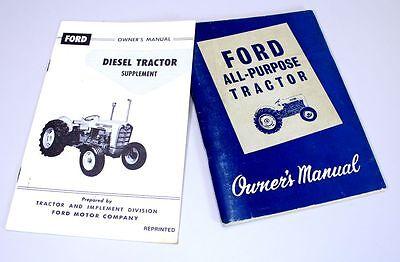 1962-1964 Ford 4000 Tractor Operators Manual RC Tractors ...
