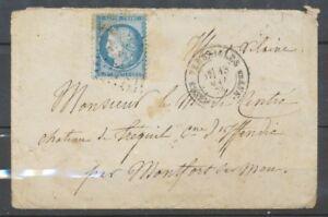 1874-Lettre-N-60-Obl-CAD-VERSAILLES-ASSEMBLEE-NATle-Cote-400-X1809