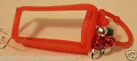 5 Bath & Body Works Pocketbac Shiny Red Green Bells Hand Sanitizer Holder Sleeve