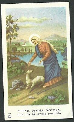 100% De Calidad Estampa Antigua Divina Pastora Andachtsbild Santino Holy Card Santini