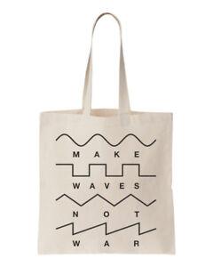 Make-Waves-Not-War-Synths-Gear-Cabeza-Unisex-Bolsa-Talla-Unica