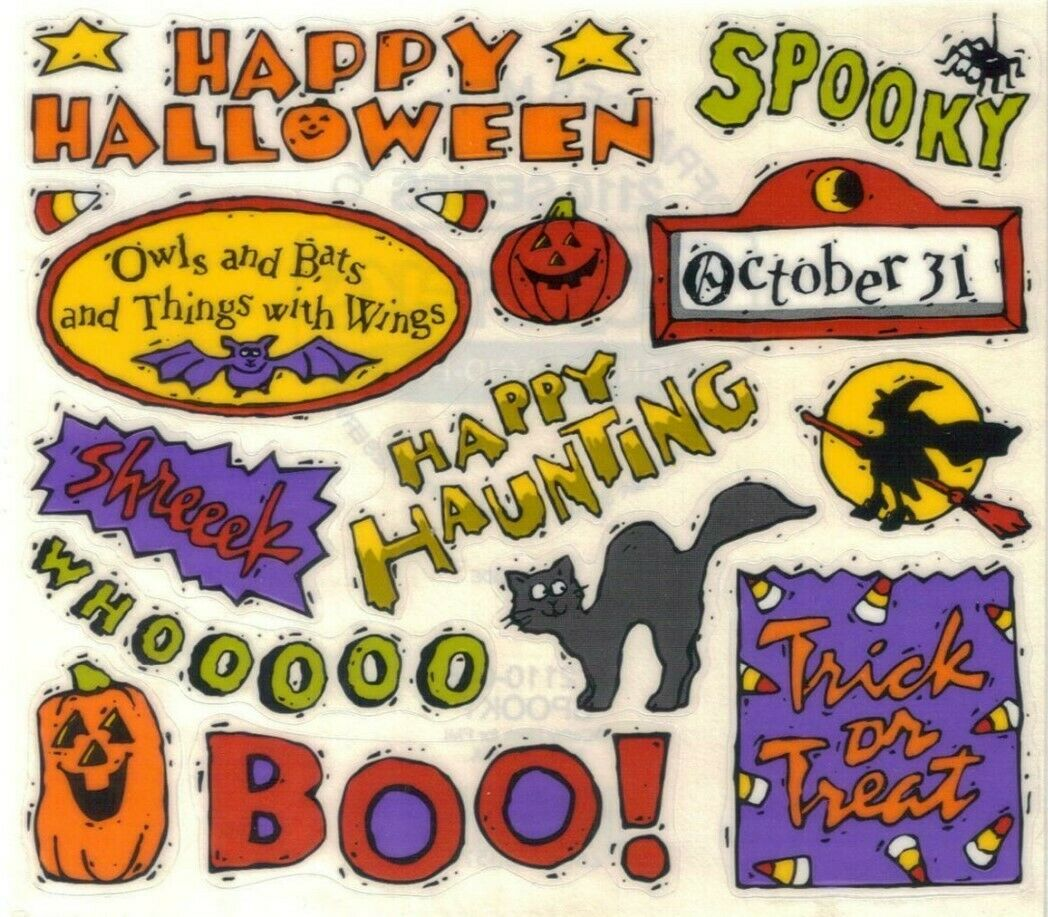 Spiders and More! Witches Halloween Sticker Books- 600 Stickers- Ghosts Bats