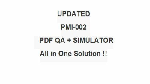PMI Certified Associate in Project Management CAPM Test PMI-002 Exam QA PDF/&SIM