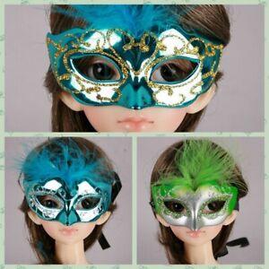wamami-Blue-Green-Gold-Silver-Line-Feather-Mask-1-3-SD-DZ-AOD-BJD-Dollfie