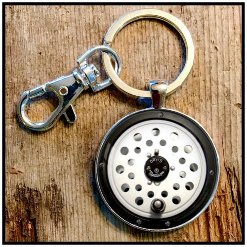 Vintage Orvis Madison fly fishing reel photo keychain key chain