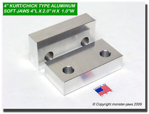 4 X 2 X 1 Quot Standard Aluminum Machinable Soft Jaws For 4