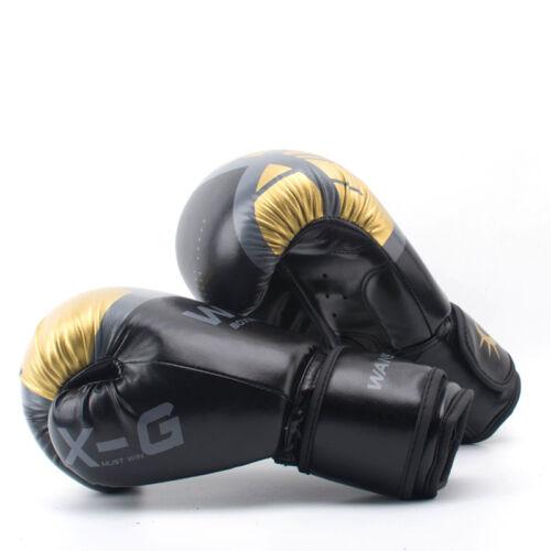 Muay Thai HIGH Quality Boxing Gloves Adults Women//Men MMA Mitts Sanda Equipments