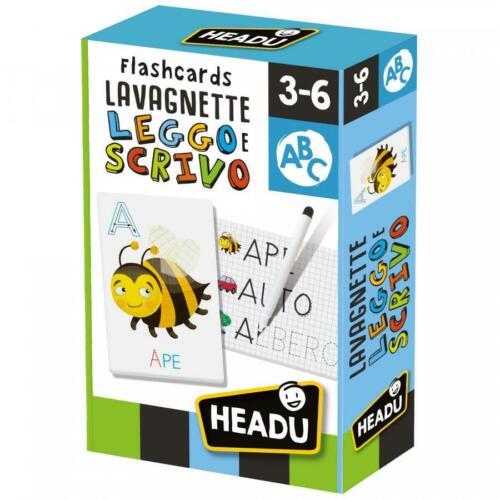FLASHCARDS LAVAGNETTE LEGGO E SCRIVO HEADU X15687 GIODICART