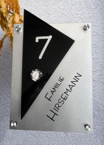 Timbre con grabado y número de casa Design by gravup kd2