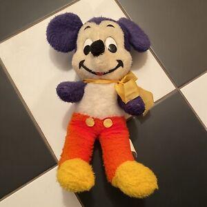 Antique-Mickey-Mouse-Walt-Disney-Vintage-60-s-Plush-California-Stuffed-Toys