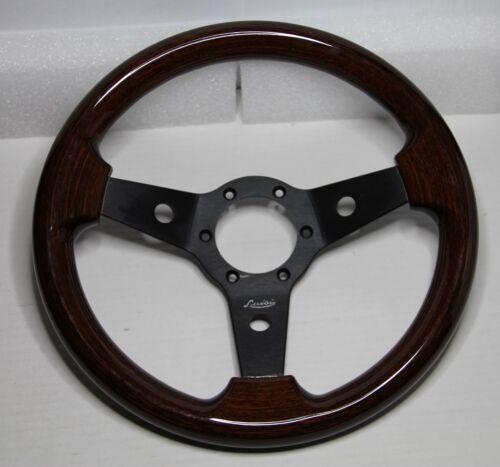 Classic Sport Vintage Wood Steering Wheel 310 mm LUISI Black Imola Mahogany