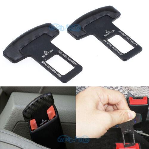 2Pcs Seat Belt Control Buckle Clasp Insert Plug Eliminate Stop Alarm For BMW