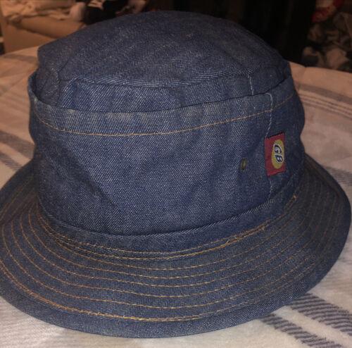 Goorin Bros Bucket Hat Blue Denim Reverse Stitchin