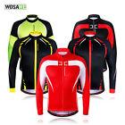 Mens Cycling Winter Jacket Fleece Thermal Long Sleeve Jersey Running Tops Coats