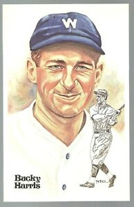 148-BUCKY-HARRIS-Perez-Steele-Hall-of-Fame-Postcard