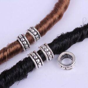 26d9c1e220157 Details about 5pcs Hair Braid Dread Dreadlock Beads Clips Cuff Retro  Pattern Design Ring Tubes