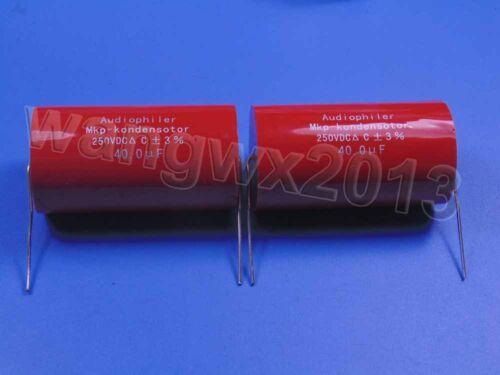 2pcs 250 V 40uF MKP Crossover membrane polypropylène non polarisé condensateur