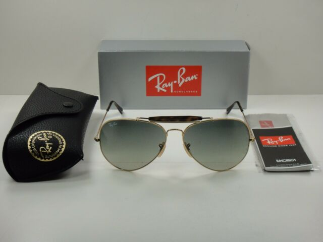 RAY-BAN OUTDOORSMAN SUNGLASSES RB3029 181/71 GOLD & HAVANA /GREY LENS 62MM