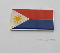 Amazing Philippines Real Car Metal Decal Badge Fender Grille Emblem Auto Flag