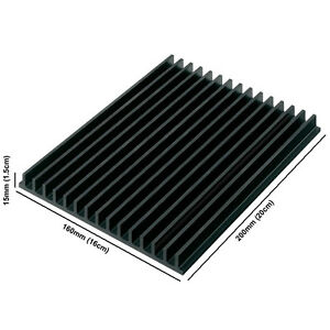 Large-Aluminium-Anodised-Black-LED-Heatsink-160mm-x-200mm-x-15mm