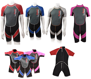 CHILDRENS-to-ADULT-NALU-SHORTIE-SHORTY-BEACH-SURF-NEOPRENE-WETSUIT-BOYS-GIRLS