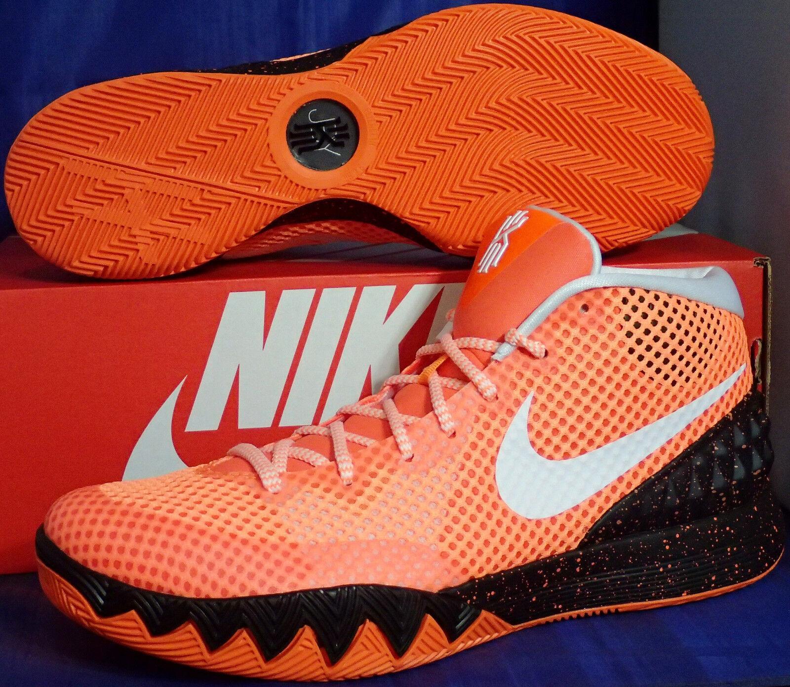 Nike Zoom Kyrie 1 iD Total Orange blanc noir SZ 9.5 ( 747423-991 )