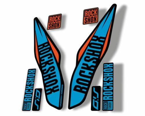 Rock Shox SID 2017 Mountain Bike Cycling Fork Decal Sticker Adhesive Blue Orange