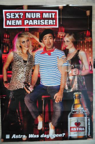 """Nur mit nem.../"""" Kiez Poster Astra Bier CITYPOSTER Litfaßsäule /""""Sex Bild"""