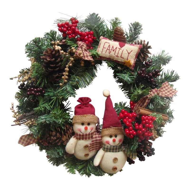 Enchante Luxus Luxus Luxus Handgefertigte Familie Land Weihnachtskranz Girlande 40cm 0715b1