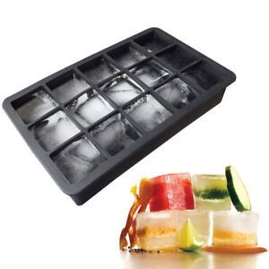 15-XL-Silicone-Bac-a-Glacons-Grand-Moule-Giant-Ice-Cubes-3-x3-x3-Cm-Carre