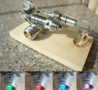 Sunnytechhot Air Stirling Engine Single Flywheel Education Toy Electricity Power