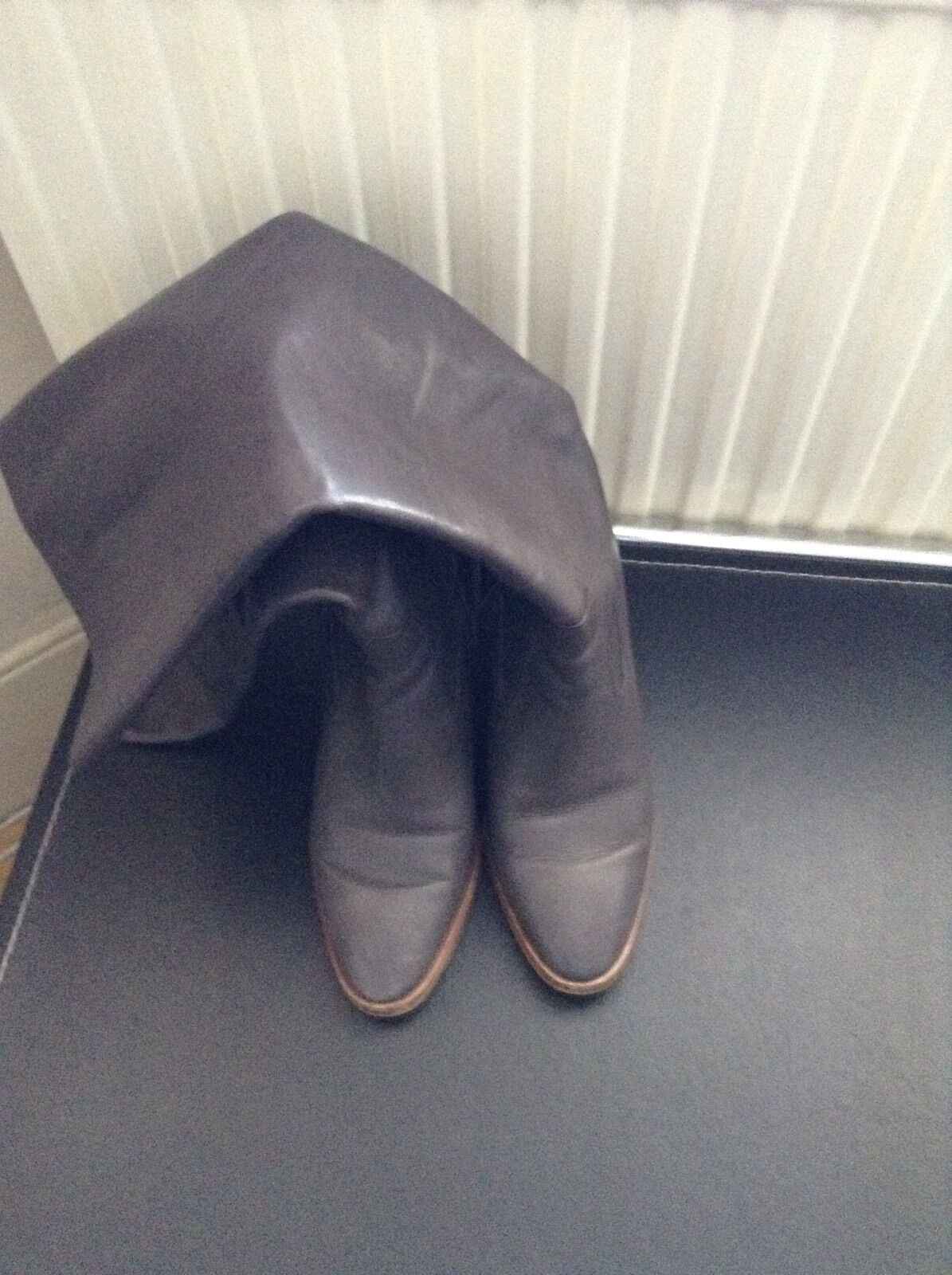 Stivali in Pelle Grigio, Taglia 40, Zara