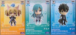 Sword-Art-Online-Chibi-Kyun-Chara-Figure-Vol-2-3-Set-Asuna-Kirito-Silca-Japan