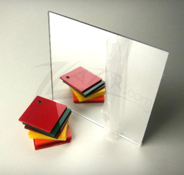 "Acrylic Mirror Clear Plexiglass  1//8/"" x 24/"" x 24"" Plastic Sheet"