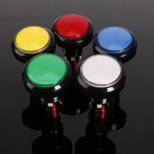1pc 60mm LED Light Big Round Arcade Video Game Player Push Button Switch Lamp PR