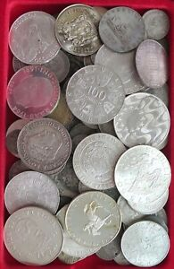 COLLECTION-LOT-SILVER-ONLY-SILVER-COINS-WORLD-116PC-679GR-xx20-023