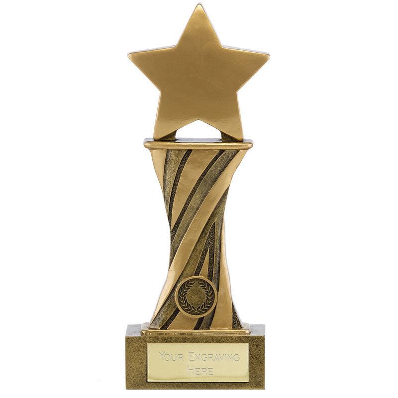 étoile Trophée COLONNE gratuite Gravure Personnalisée Personnalisée Personnalisée récompense 15.2cm 19.1cm dba417