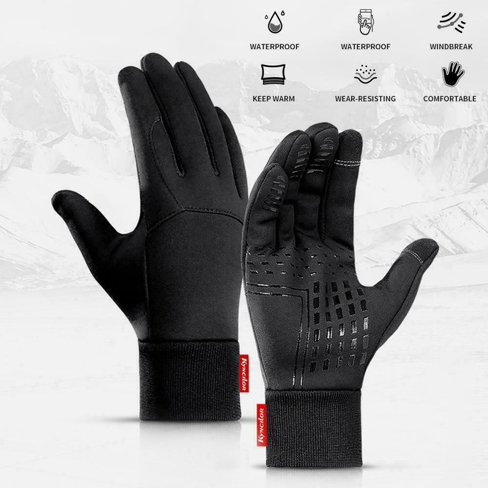 Waterproof Winter Warm Thermal Gloves Cycling Motorcycle Touch Screen Men Women