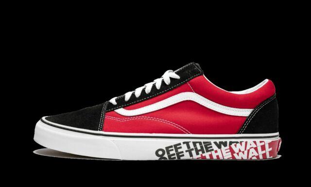 Vans UA Old Skool OTW Sidewall Black Racing Red Skate New Sneakers VN0A38G1VRH